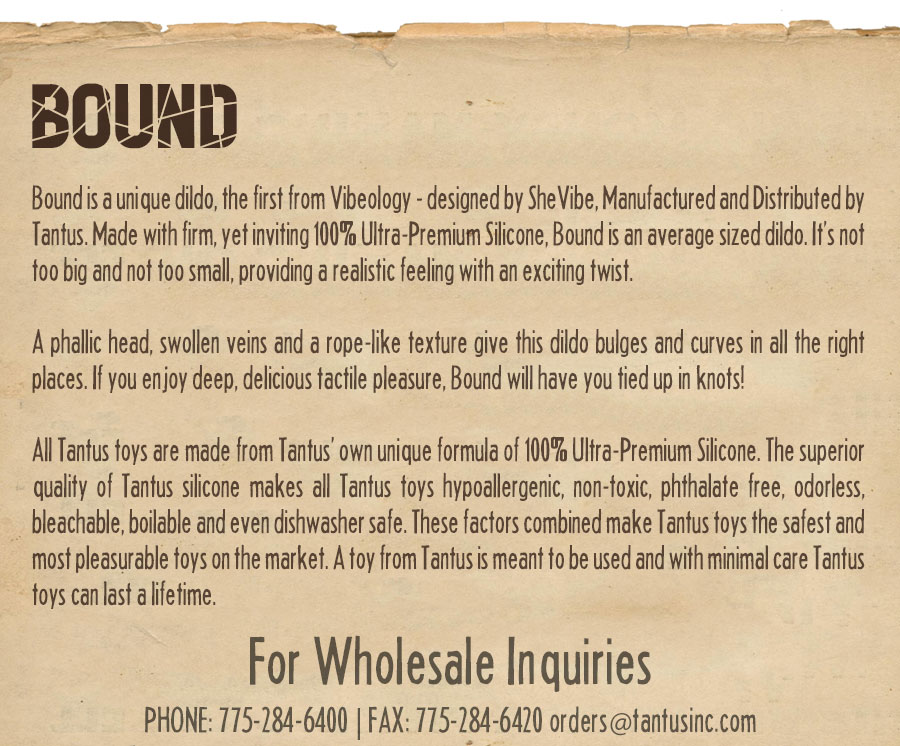 Bound Dildo description